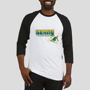 Downhill Skiing Baseball Jersey