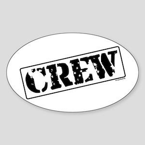 Crew Stamp Oval Sticker