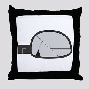 Smashed Chunky Car Side Mirror Throw Pillow