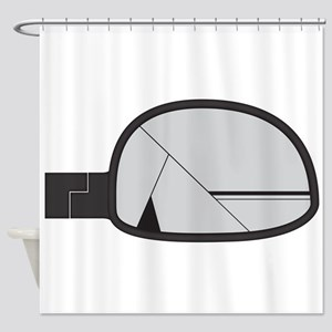 Smashed Chunky Car Side Mirror Shower Curtain