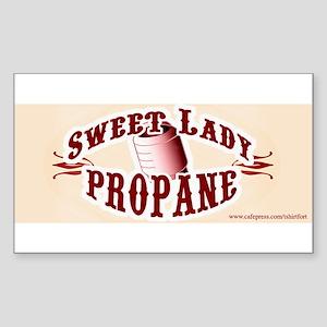 Sweet Lady Propane Rectangle Sticker