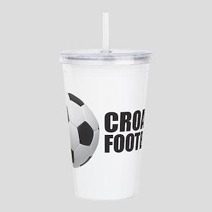 Croatia Football Acrylic Double-wall Tumbler