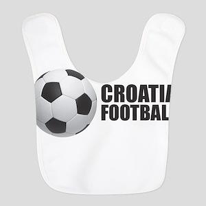Croatia Football Polyester Baby Bib