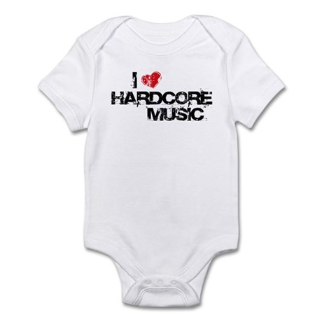 I Love Hardcore Music Infant Bodysuit