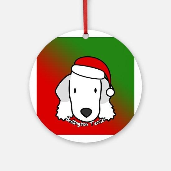Cartoon Bedlington Terrier Christmas Ornament