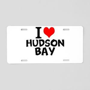 I Love Hudson Bay Aluminum License Plate