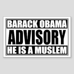 Barack Oboma Advisory - He Is Sticker (Rectangular