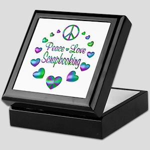 Peace Love Scrapbooking Keepsake Box