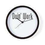 Work: Doin Work Wall Clock