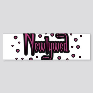 Newlywed - Charmed Pink Bumper Sticker