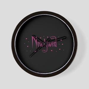 Newlywed - Charmed Pink Wall Clock