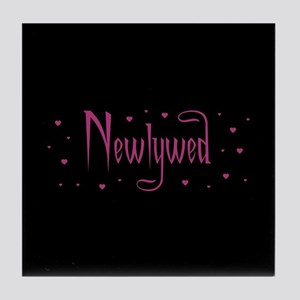 Newlywed - Charmed Pink Tile Coaster