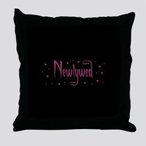 Newlywed - Charmed Pink Throw Pillow