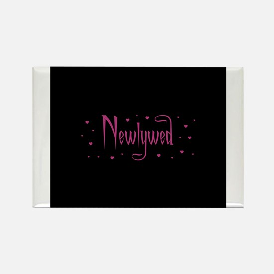 Newlywed - Charmed Pink Rectangle Magnet