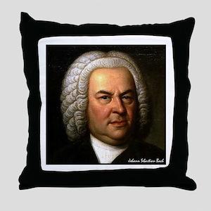 """Faces """"Bach"""" Throw Pillow"""