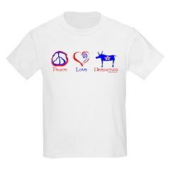 Peace Love Democrats T-Shirt