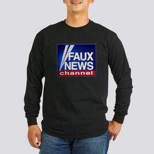 FAUX NEWS Long Sleeve Dark T-Shirt