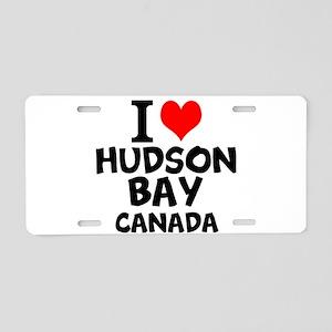 I Love Hudson Bay, Canada Aluminum License Plate