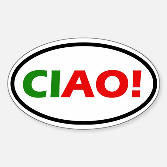 Ciao! Oval Decal