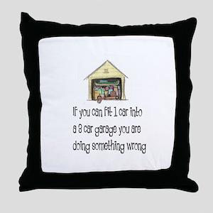 Messy Garage Throw Pillow