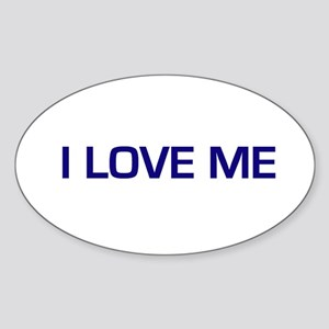 I Love Me Oval Sticker