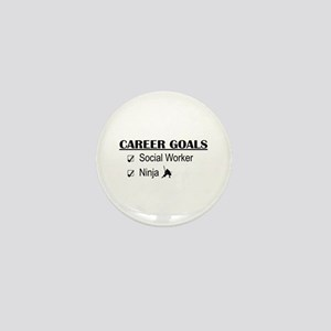 Social Worker Career Goals Mini Button