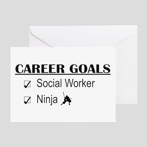 Social Worker Career Goals Greeting Cards (Pk of 1