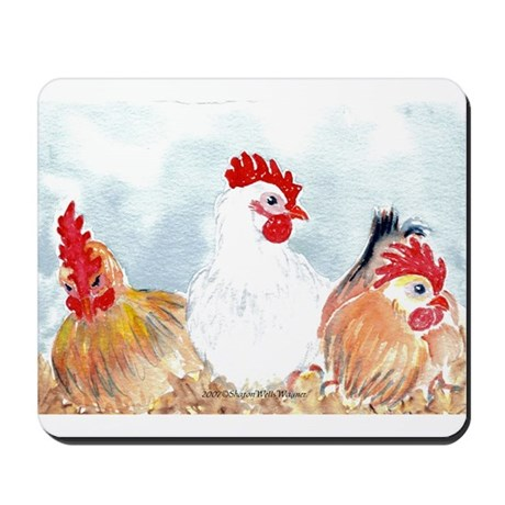 Three Hens Mousepad