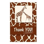 Giraffe Themed Thank You Postcards (package Of 8)