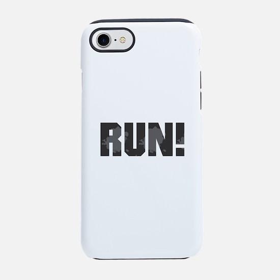 RUN - Black iPhone 8/7 Tough Case