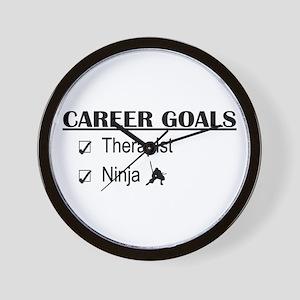 Therapist Career Goals Wall Clock