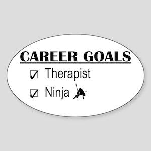 Therapist Career Goals Oval Sticker