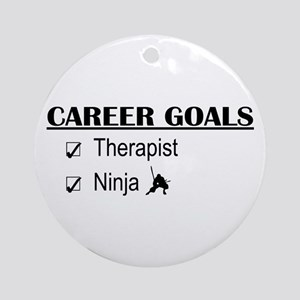 Therapist Career Goals Ornament (Round)