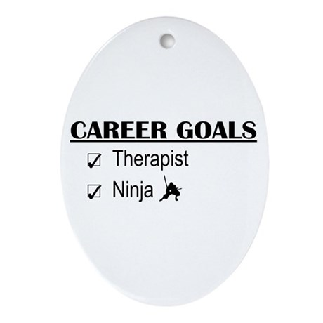 Therapist Career Goals Oval Ornament