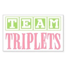 Team Triplets Rectangle Sticker