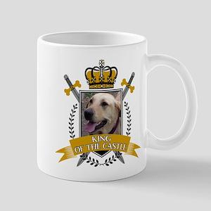Custom Dog King Of The Castle Mugs