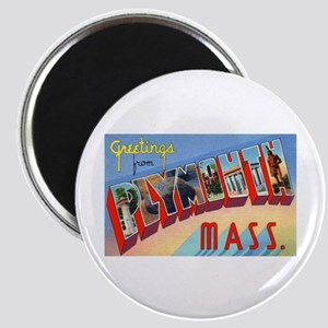 Plymouth Massachusetts Greetings Magnet