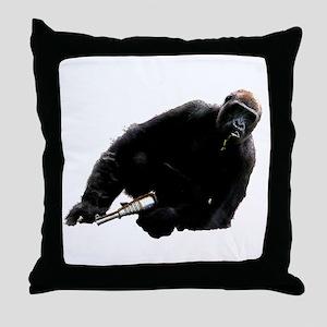 Gun monkey Throw Pillow