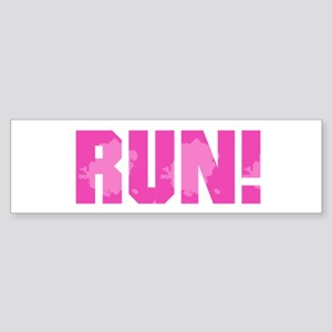 RUN - Pink Bumper Sticker