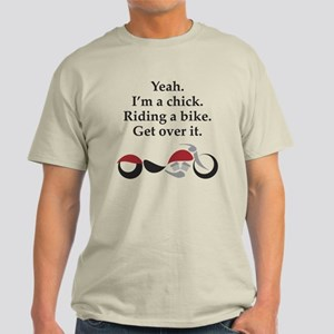 Chick Riding Bike Light T-Shirt