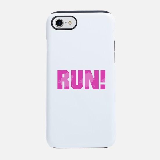 RUN - Pink iPhone 8/7 Tough Case