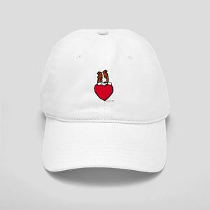 Red Border Collie Valentine Cap
