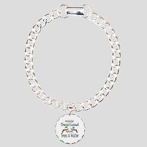 Please Swaziland Save Tr Charm Bracelet, One Charm