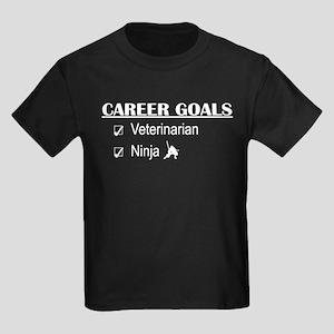 Veterinarian Career Goals Kids Dark T-Shirt