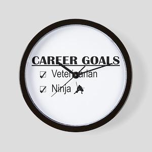 Veterinarian Career Goals Wall Clock