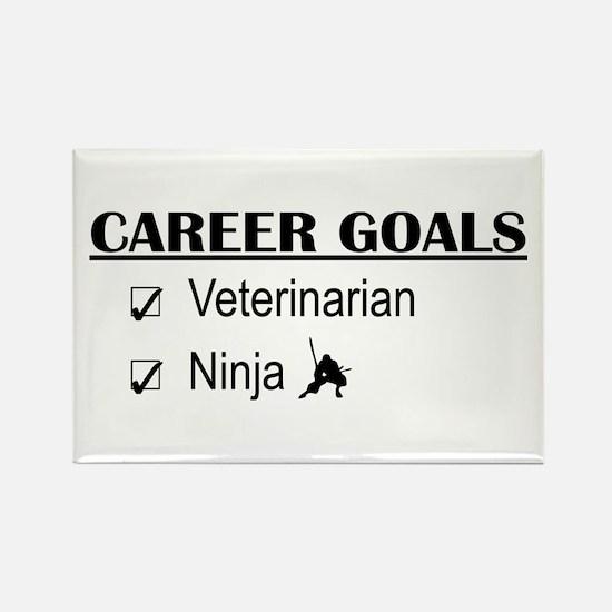 Veterinarian Career Goals Rectangle Magnet