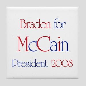 Braden for McCain 2008 Tile Coaster