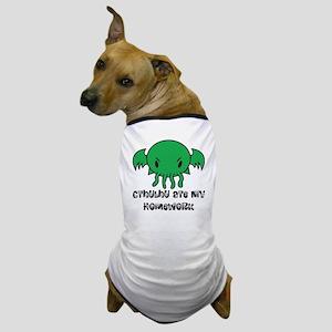 Cthulhu Ate My Homework Dog T-Shirt