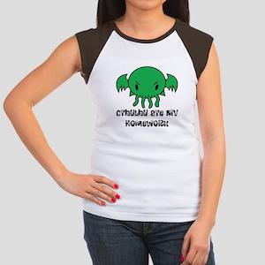 Cthulhu Ate My Homework Women's Cap Sleeve T-Shirt