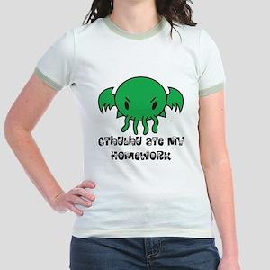 Cthulhu Ate My Homework Jr. Ringer T-Shirt